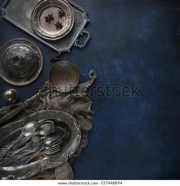 Old Kitchen Appliances Vintage Cutlery On Stock Photo Edit Now 537448894