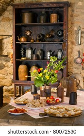 Old kitchen of  castle, Slovakia