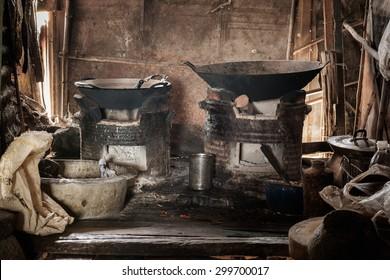 Old kitchen,Local kitchen thailand