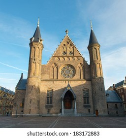 old knight hall Ridderzaal in Hague, Holland