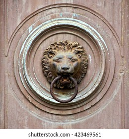 Old knocker - a lion's head with an iron ring in his mouth