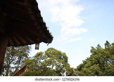 the old Korean traditional house the beauty of the good in contact with the sky
