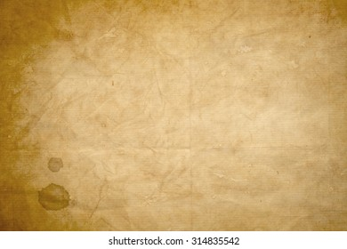 old  kraft paper with coffee stain texture or background