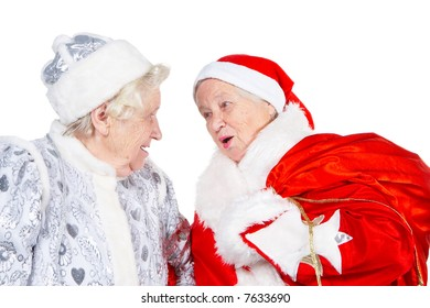 Old Ladies- Snow Maiden and Santa Clause are singing