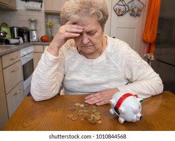 old lady with money worries