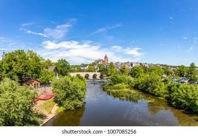 old Lahn bridge and view to famous Wetzlar dom