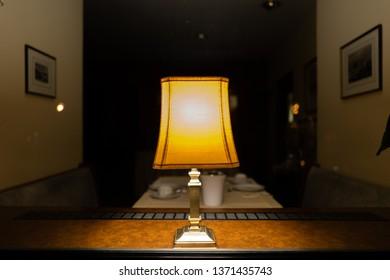 An old Lamp at night