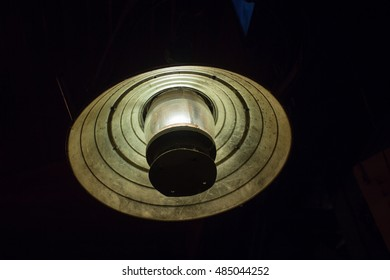 The old lamp on the ceiling