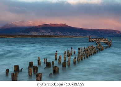 Old landing stage at Puerto Natales, Patagonia, Chile