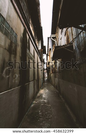 Old Lane Which Represents Danger People Used Stock Photo (Edit Now