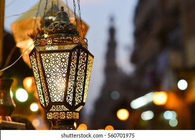 The old lantern in Khan Khalili bazaar - Cairo, Egypt