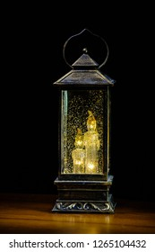 old lantern on a dark background