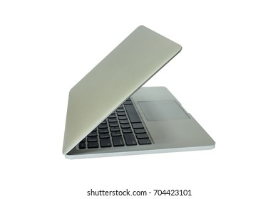 old laptop computer isolate on white background
