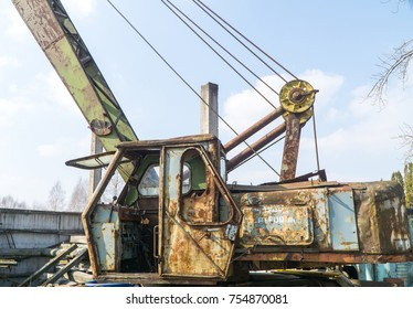 Old Large Industrial Electric Crane
