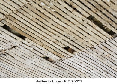 Old lath and plaster ceiling