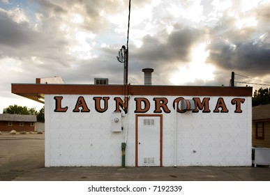 An old laundromat in a small town