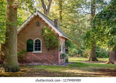 Old laundry house in the park on the estate Wallsteyn near the village Achtmaal, municipality Zundert, Noord-Brabant, Netherlands.The cottage was built around 1870. The building is a national monument