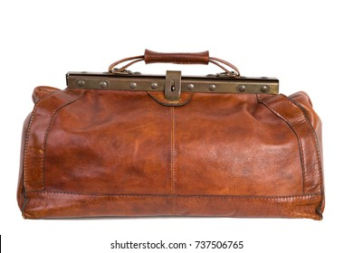 Old leather bag / doctors bag