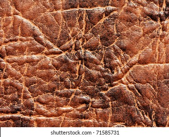 Old leather textured pattern effect background