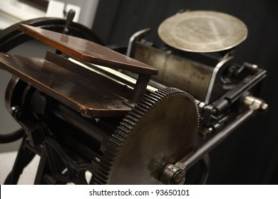 an old letterpress in good working condition