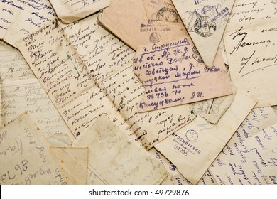 Old letters of the Russian soldier from the Second World War