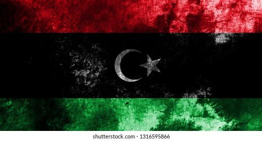 Old Libya grunge background flag
