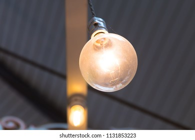 Old light bulb close up.