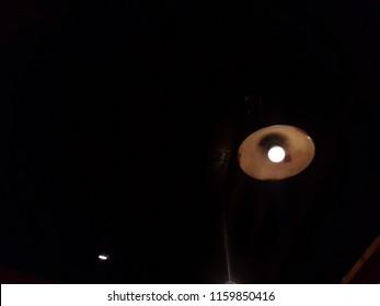 Old light bulb hanging