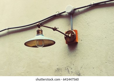old lightbulb outdoor