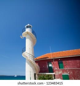 Old lighthouse in Borik, near to Zadat, Croatia