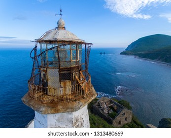 Old lighthouse on the rock