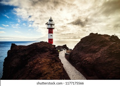 Old Lighthouse the Punta de Teno in Tenerife island, Canary Island