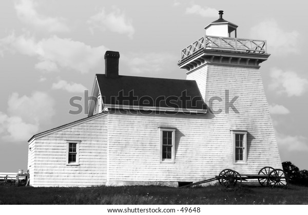 Old Lighthouse from a restored 1920's negative.