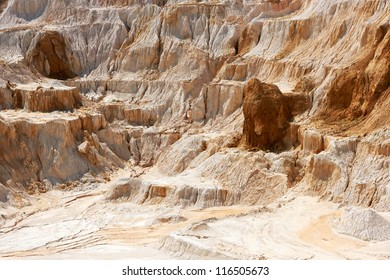 Old limestone and kaolin quarry to produce china clay and porcelain