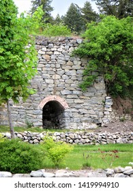 Old limestone kilns in Bayview, Idaho that were used to process concrete in the 1930's