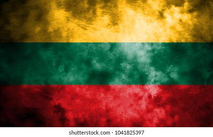 Old Lithuania grunge background flag