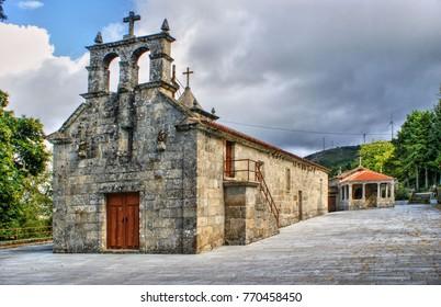 Old little church in Vila Pouca de Aguiar, Portugal