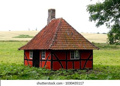 An old little country house on Funen island - Denmark.