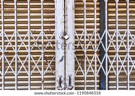 Old Locked Door Texture Background Stockfoto Jetzt Bearbeiten
