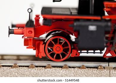 Old locomotive closeup