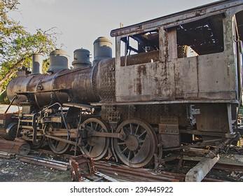 Old locomotive from Havana, Cuba