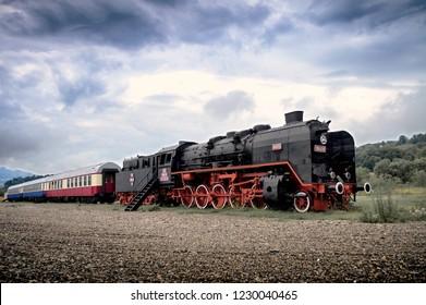 Old locomotive, Viseu, Maramures, Romania