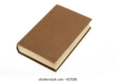 Old looking book on a white background