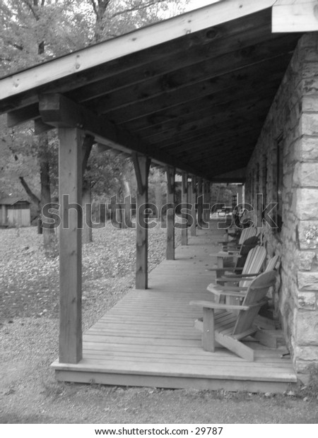 Old looking porch.