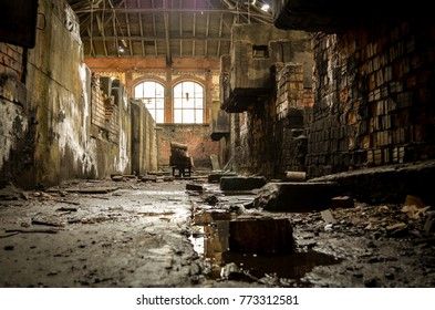 old lost abandonend factory building