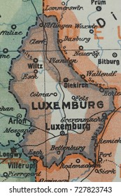 Old Luxembourg 1915 year map.