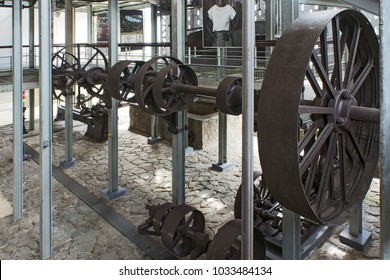 old machinery called shafting or transmission