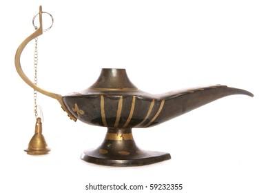 Old Magic oil Lamp studio cutout