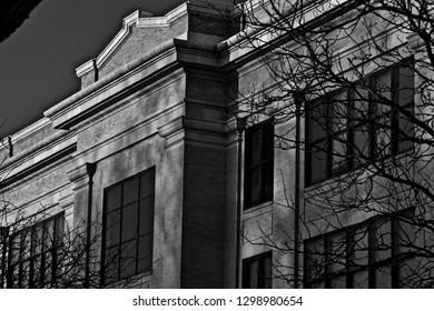 Old Main Graduate School Building, West Texas A&M University, Canyon, Texas.