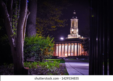 Old Maine at night at the Pennsylvania State University in State College, Pennsylvania